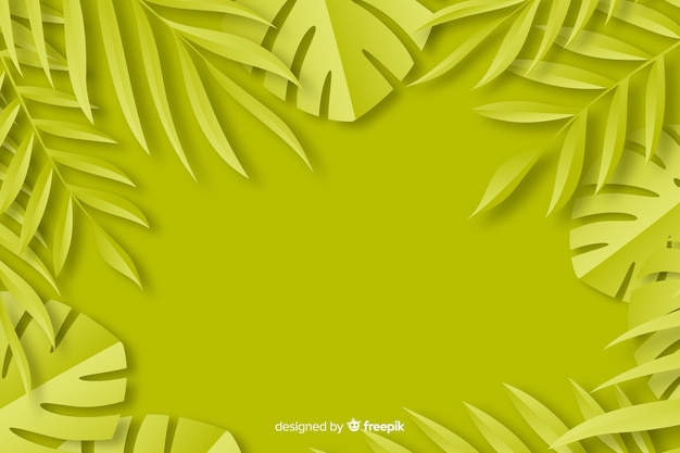 Fond de feuilles de papier style monochrome