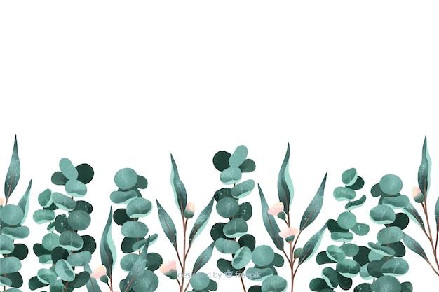 Fond de feuilles peintes avec espace de copie