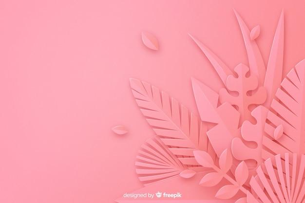 Fond de feuilles roses monochromes