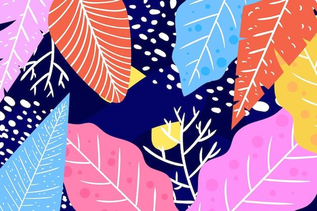 Fond de feuilles tropicales abstraites