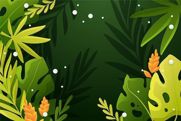Fond de feuilles tropicales dégradé