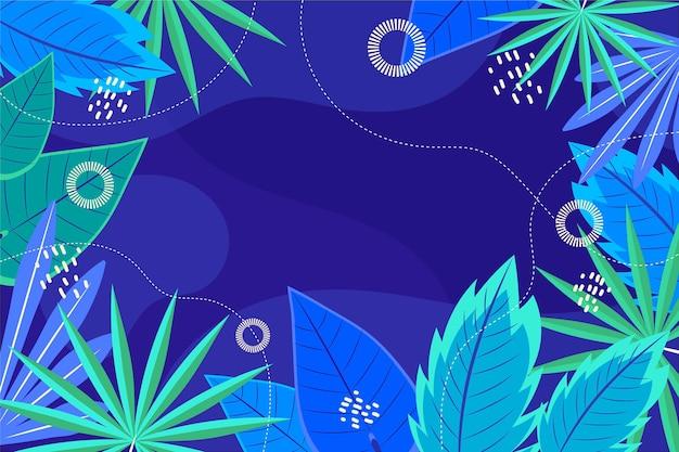 Fond de feuilles tropicales d'été