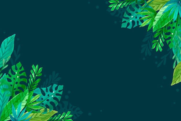 Fond de feuilles tropicales simples