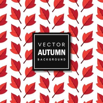Fond de feuilles de vecteur coloré autum