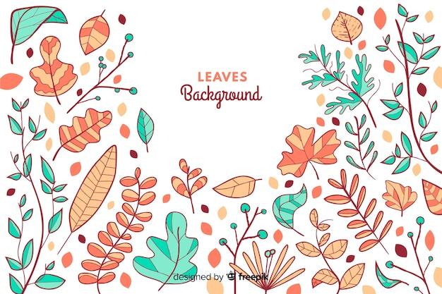 Fond de feuilles