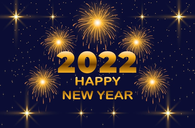 Fond de feux d'artifice du nouvel an 2022