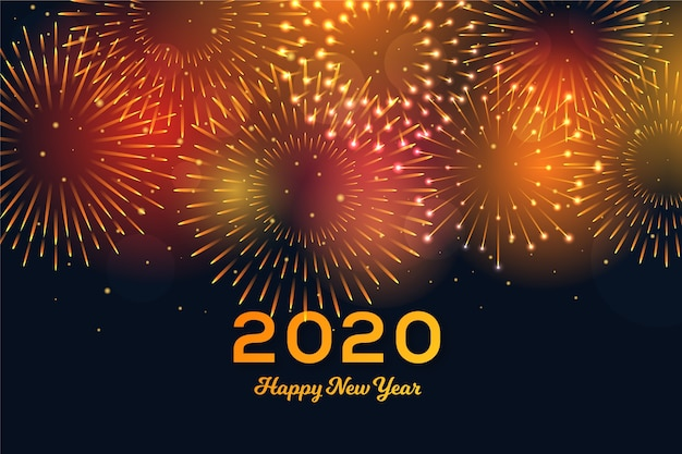 Fond de feux d'artifice nouvel an 2020