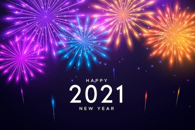 Fond de feux d'artifice nouvel an 2021