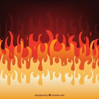 Fond de la flamme dans la conception plate