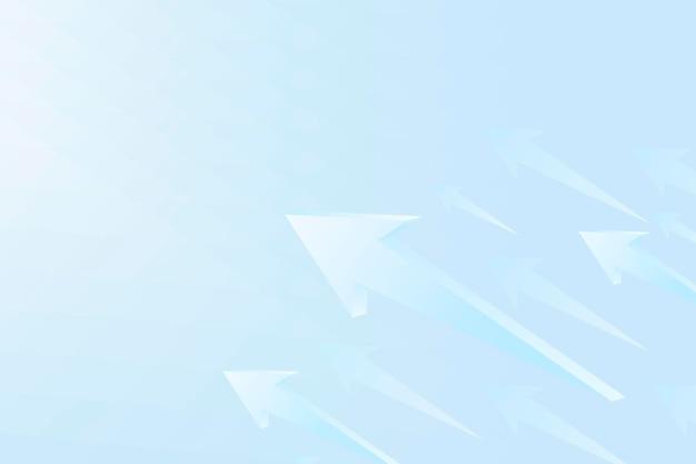 Fond de flèche bleue, bordure moderne, vecteur de démarrage de la technologie