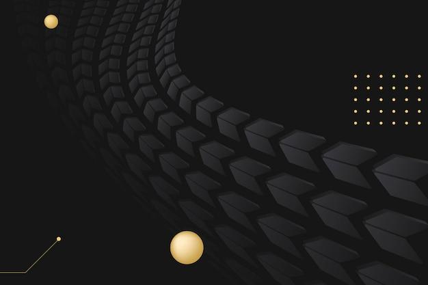 Fond de flèche esthétique, vecteur de concept de technologie dégradé noir