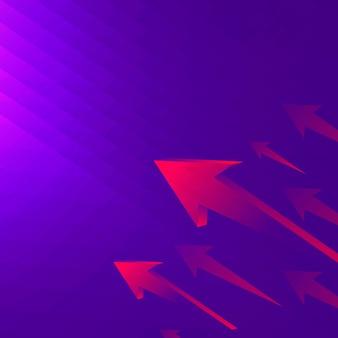 Fond de flèche violette, frontière moderne, vecteur de concept technologique