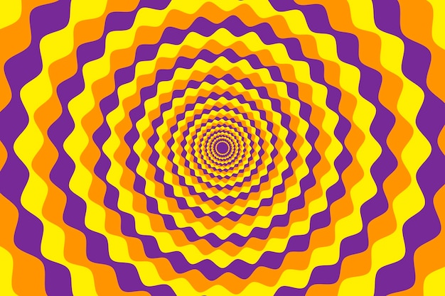 Fond de fleur abstraite psychédélique dynamique