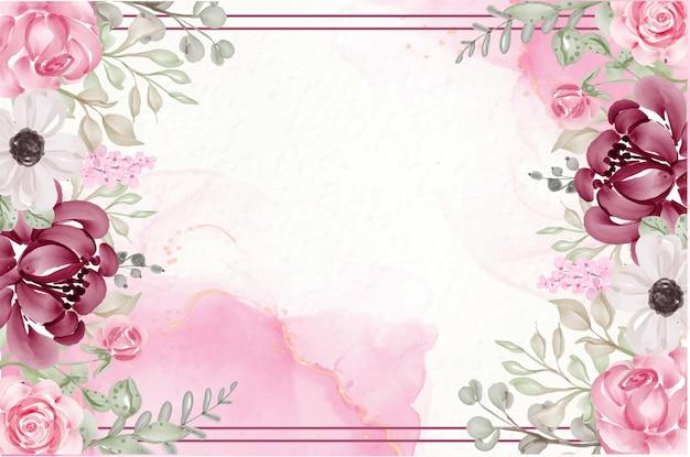 Fond de fleur aquarelle peinte à la main