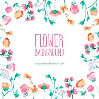 Fond de fleur aquarelle