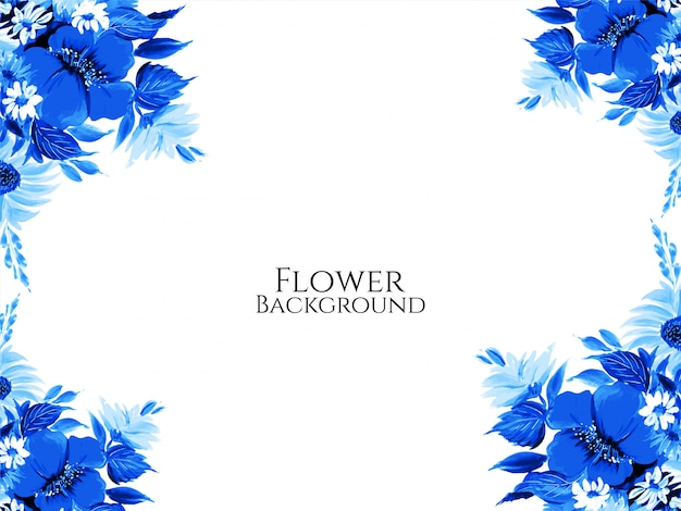 Fond de fleur belle couleur bleue élégante
