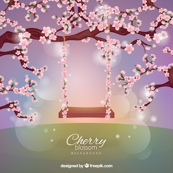Fond de fleur de cerisier dans un style réaliste