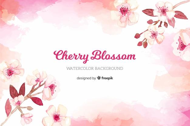 Fond de fleur de cerisier