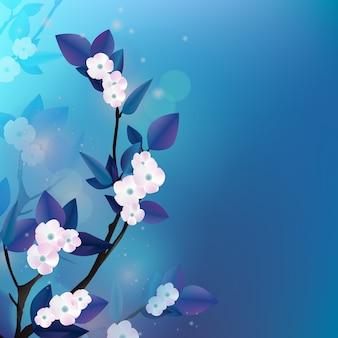 Fond de fleur d'hiver avec espace copie