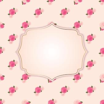 Fond de fleur mignon avec cadre