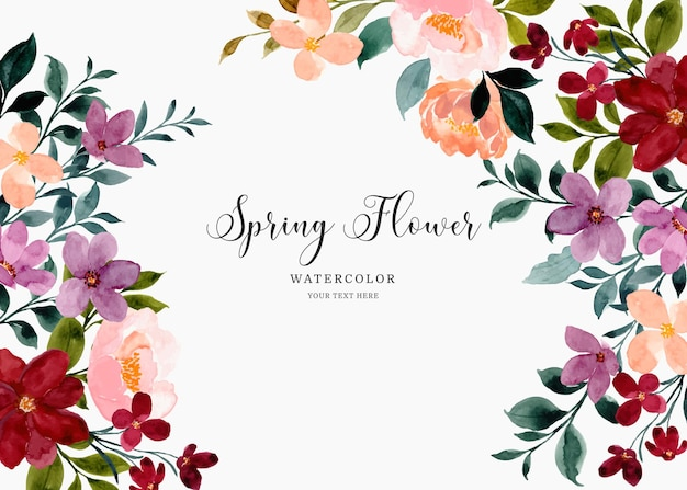Fond de fleur de printemps aquarelle coloré