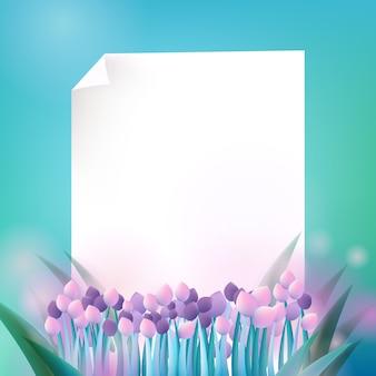 Fond de fleur de printemps avec espace copie