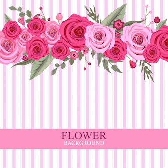Fond de fleur rose