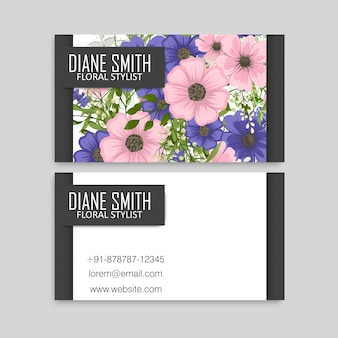 Fond de fleur sombre - bordure de cercle de fleurs bleues