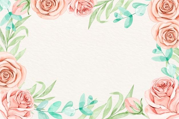 Fond de fleurs aquarelle de couleurs pastel