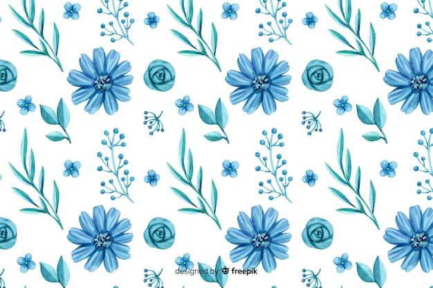 Fond de fleurs aquarelle monochromatique