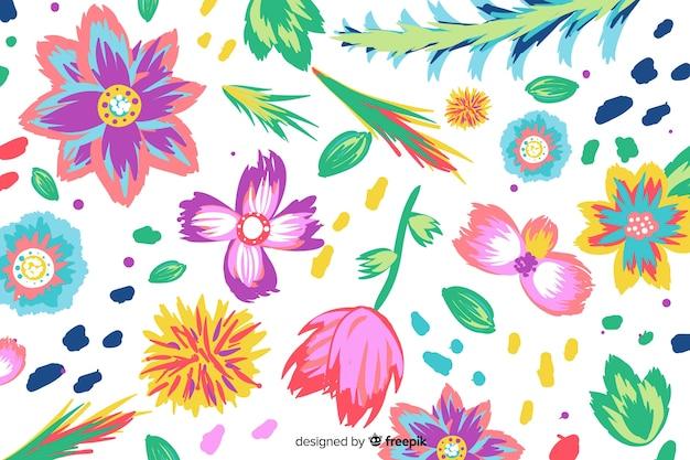 Fond de fleurs colorées