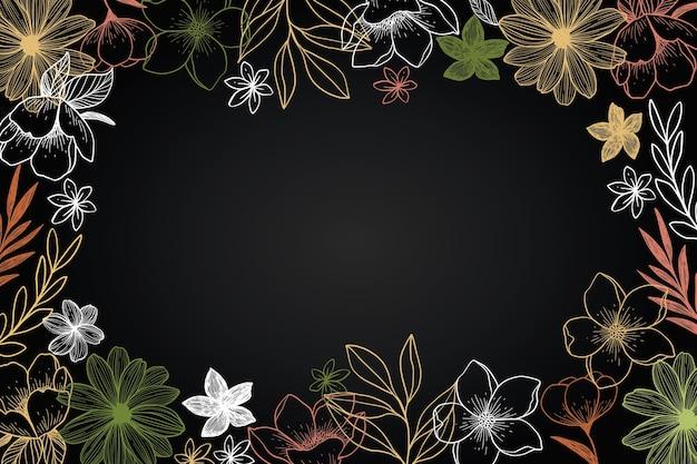 Fond de fleurs dessinées à la main
