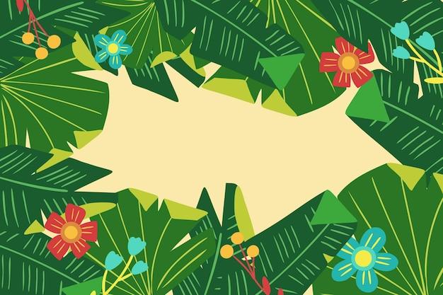 Fond de fleurs et feuilles tropicales pour zoom