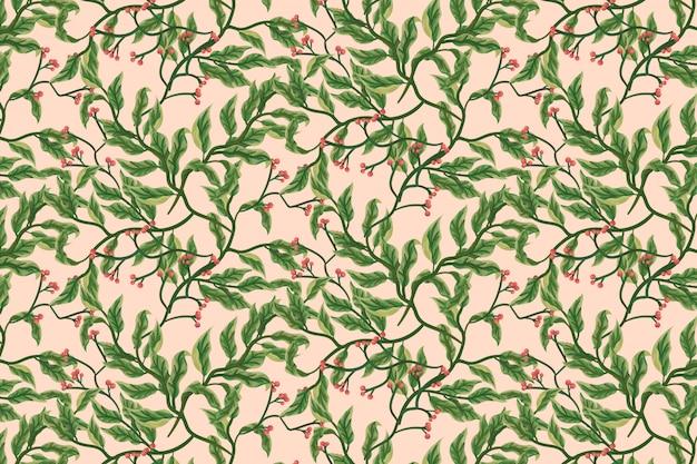 Fond de fleurs et feuilles