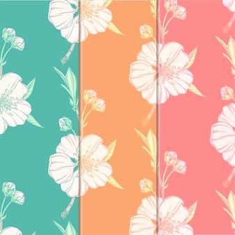 Fond de fleurs avec des fleurs de printemps