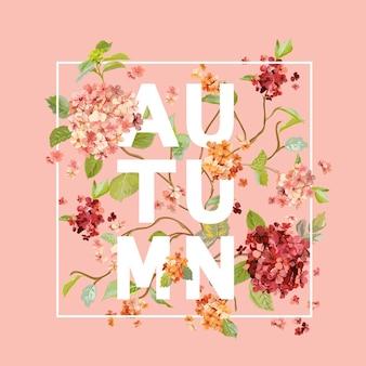 Fond de fleurs d'hortensia