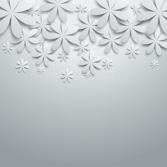 Fond avec des fleurs en papier.