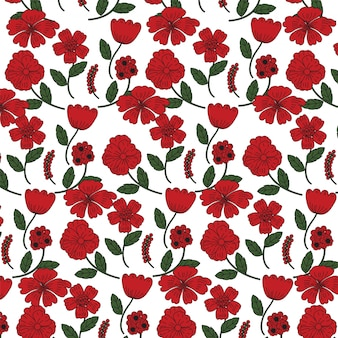 Fond de fleurs de pavot rouge