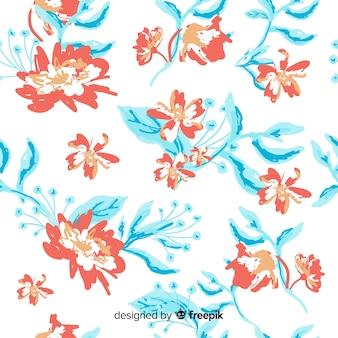 Fond de fleurs peintes à la main colorée