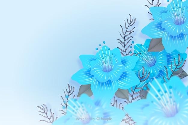 Fond de fleurs réalistes