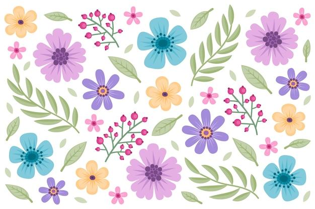 Fond de fleurs rétro 2d