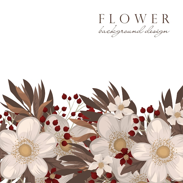 Fond de fleurs rouges et blanches