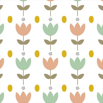 Fond avec des fleurs simples de printemps