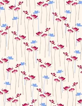 Fond de fleurs simples