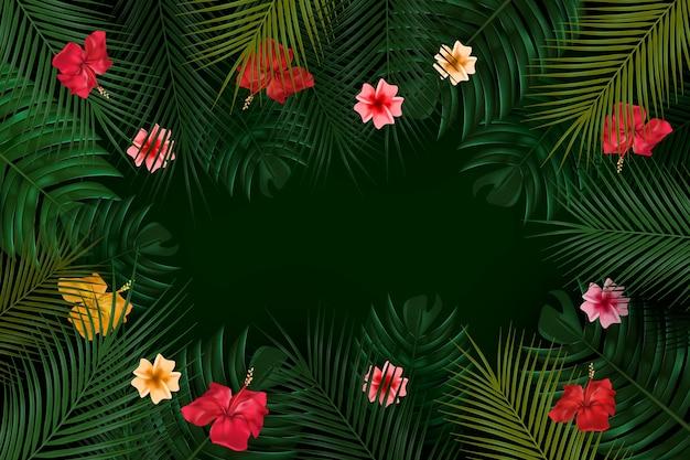 Fond de fleurs tropicales pour zoom