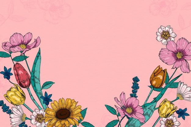 Fond de fleurs vintage 2d