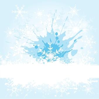 Fond de flocon de neige grunge