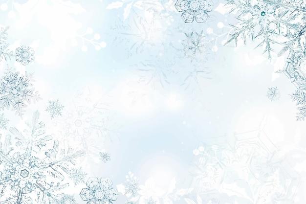 Fond de flocon de neige d'hiver