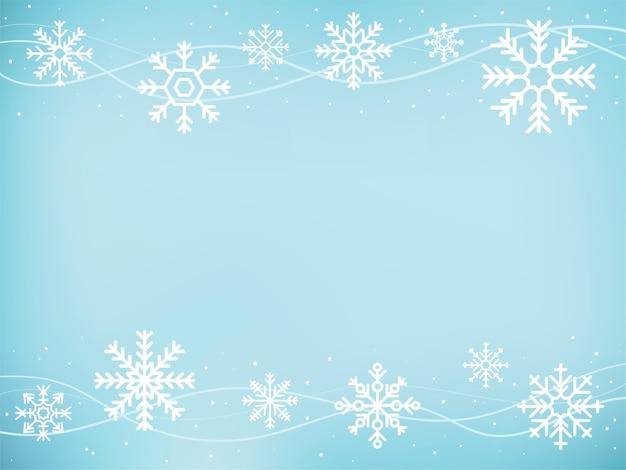 Fond de flocons de neige mignons