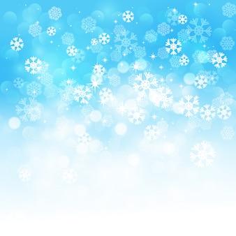 Fond de flocons de neige de noël